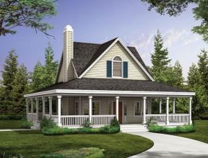 Statantiems medinį namą