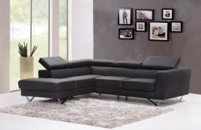 Juoda odinė sofa